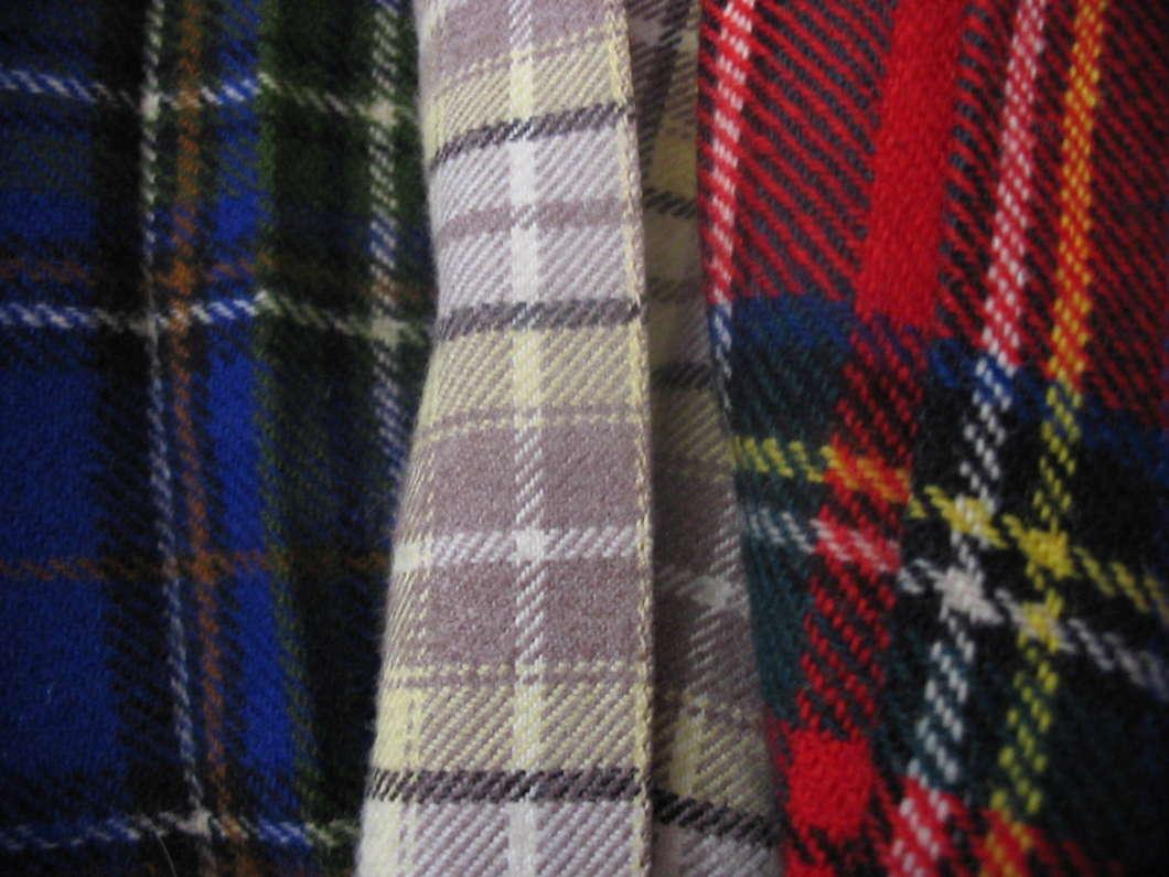 Three tartans photo courtesy of Wikimedia Commons