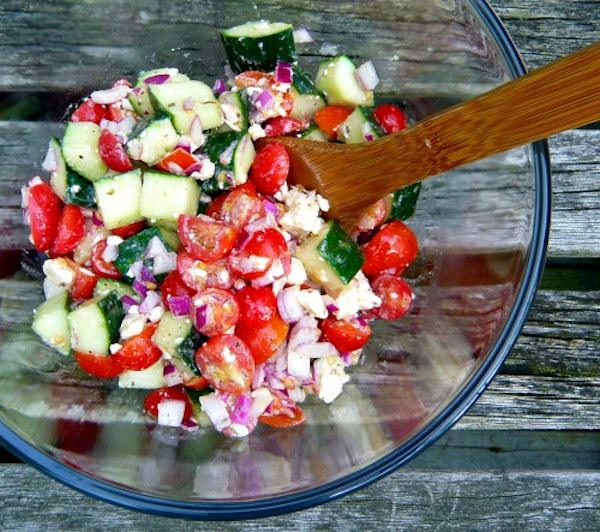 Cucumber-Tomato-Feta-Salad