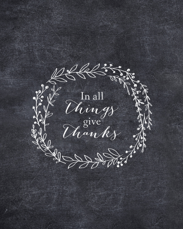 In All Things Give Thanks by Sassy Ink Studio