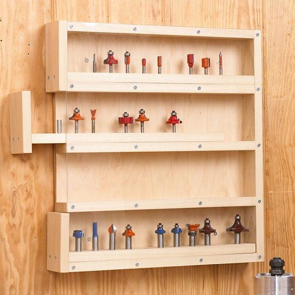 EasyAccess RouterBit Storage Woodworking Plan Workshop