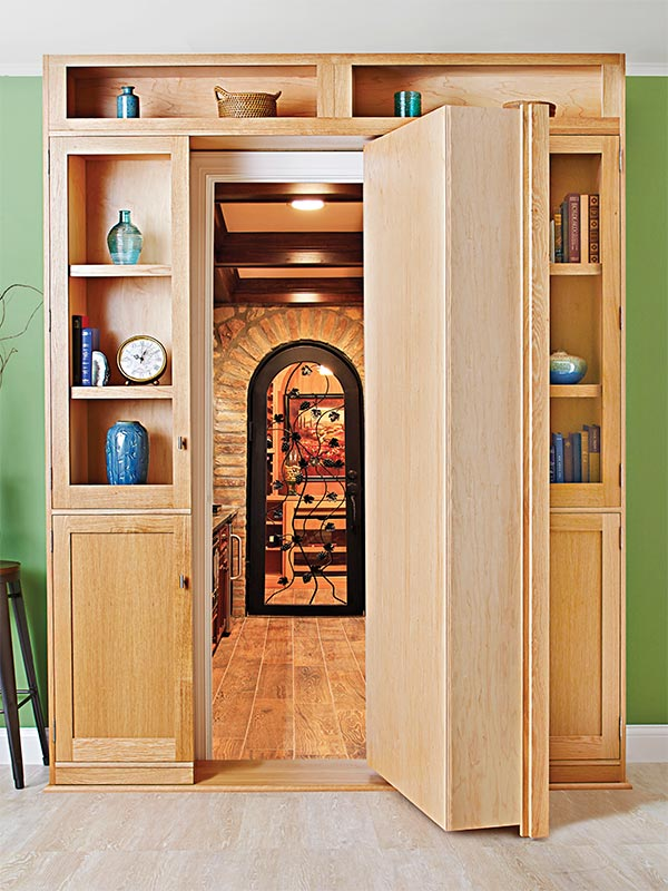 Home / Woodworking Plans / Furniture / Bookcases & Shelving / Hidden ...