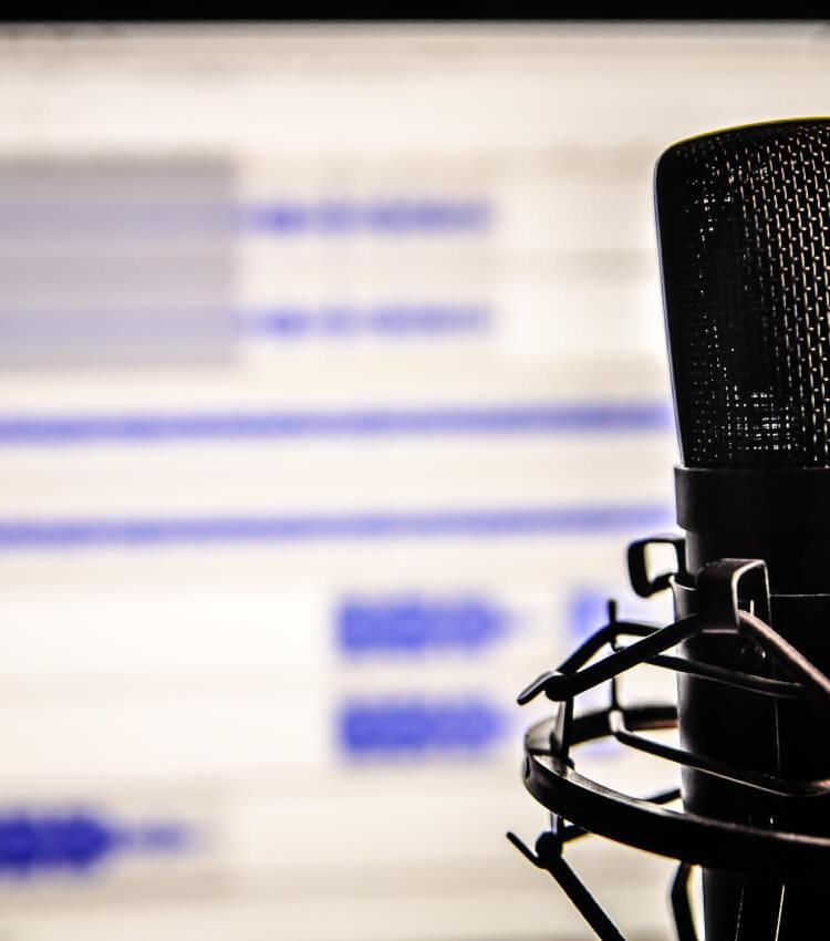 áudio profissional para vídeos