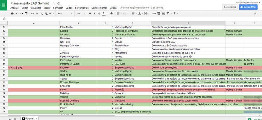 Planilha Planejamento EADSUMMIT