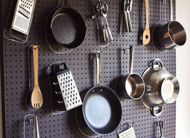 DIY Pegboard Projects - Kitchen