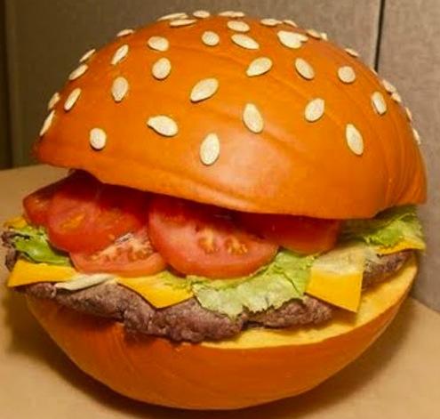 Pumpkin Cheeseburger