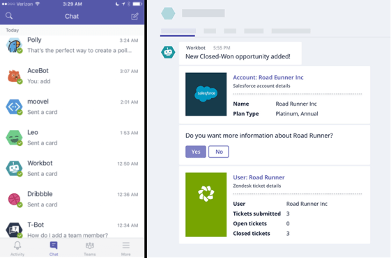 workbot for microsoft teams bots