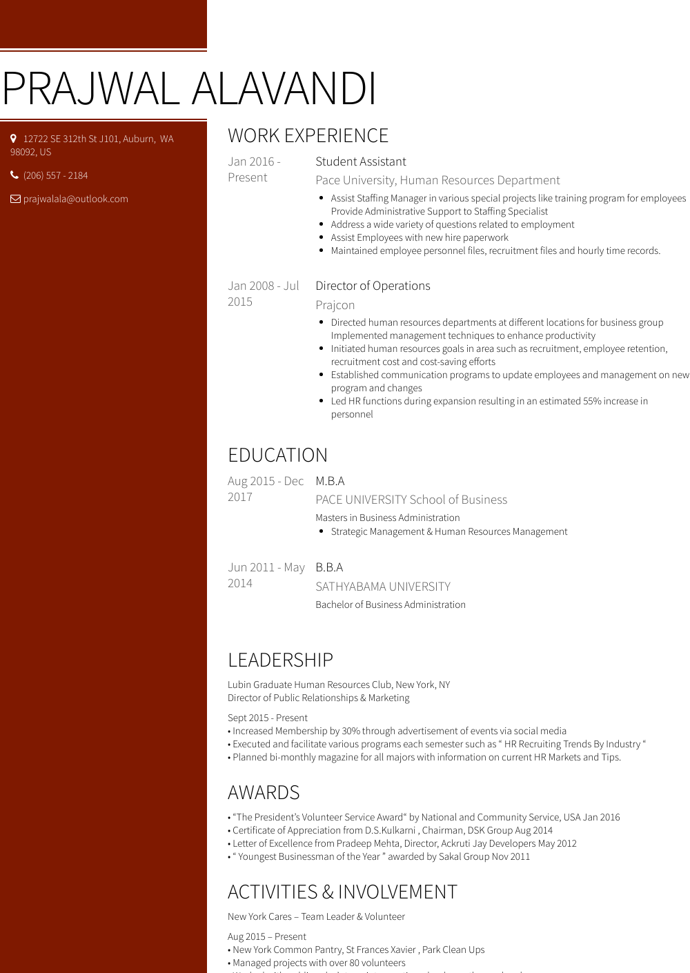 Student Assistant  Resume Samples  Templates  VisualCV
