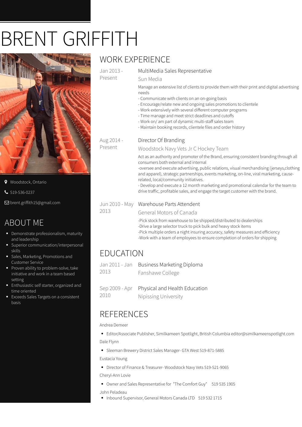 sales resume tips