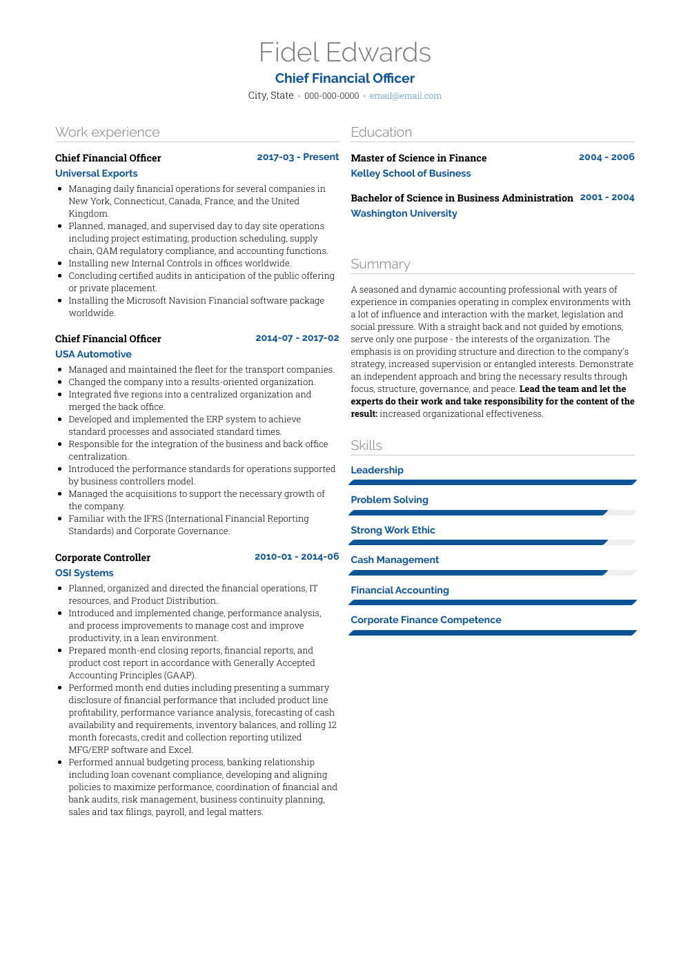 examples of job accomplishments