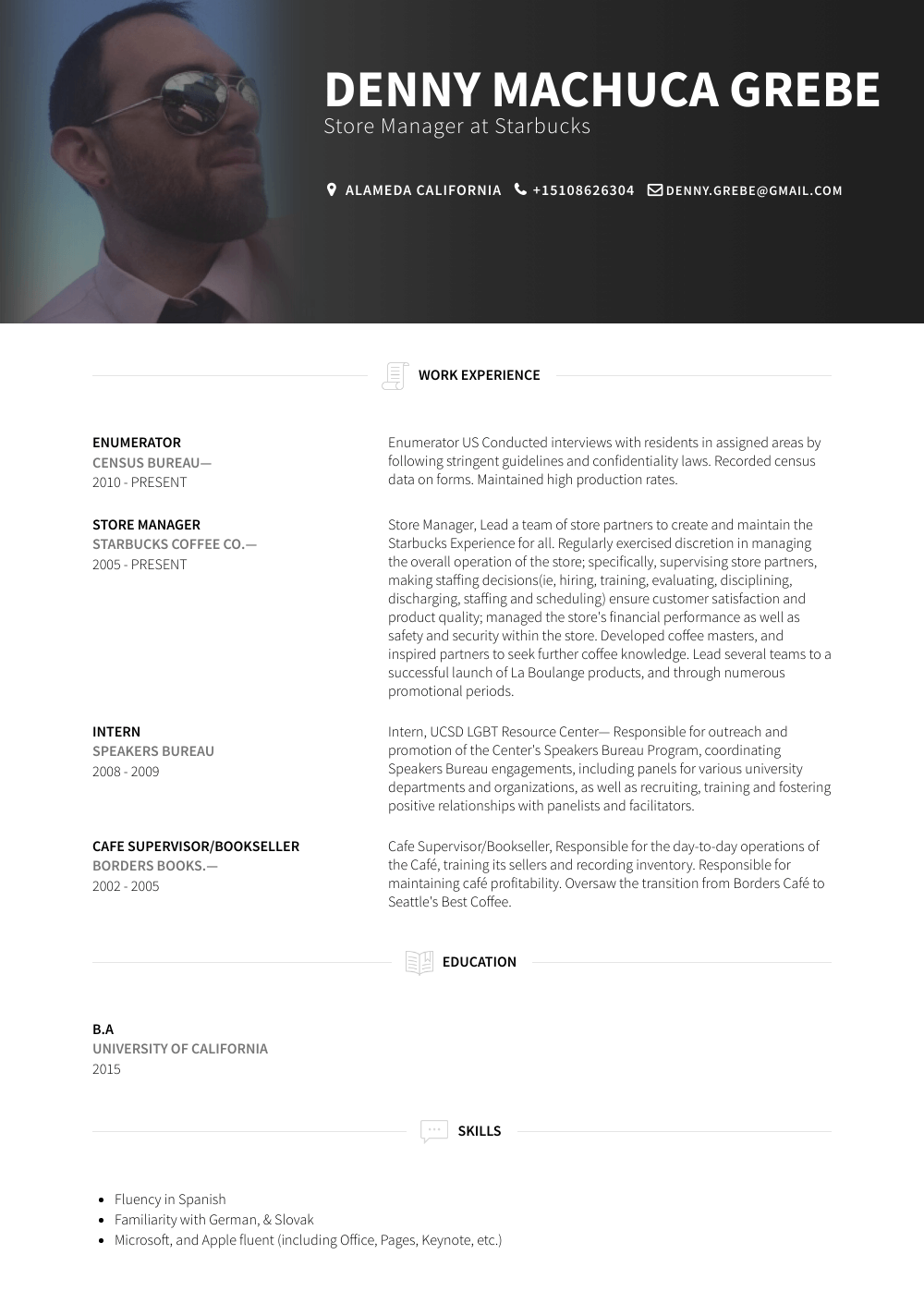Enumerator  Resume Samples  Templates  VisualCV