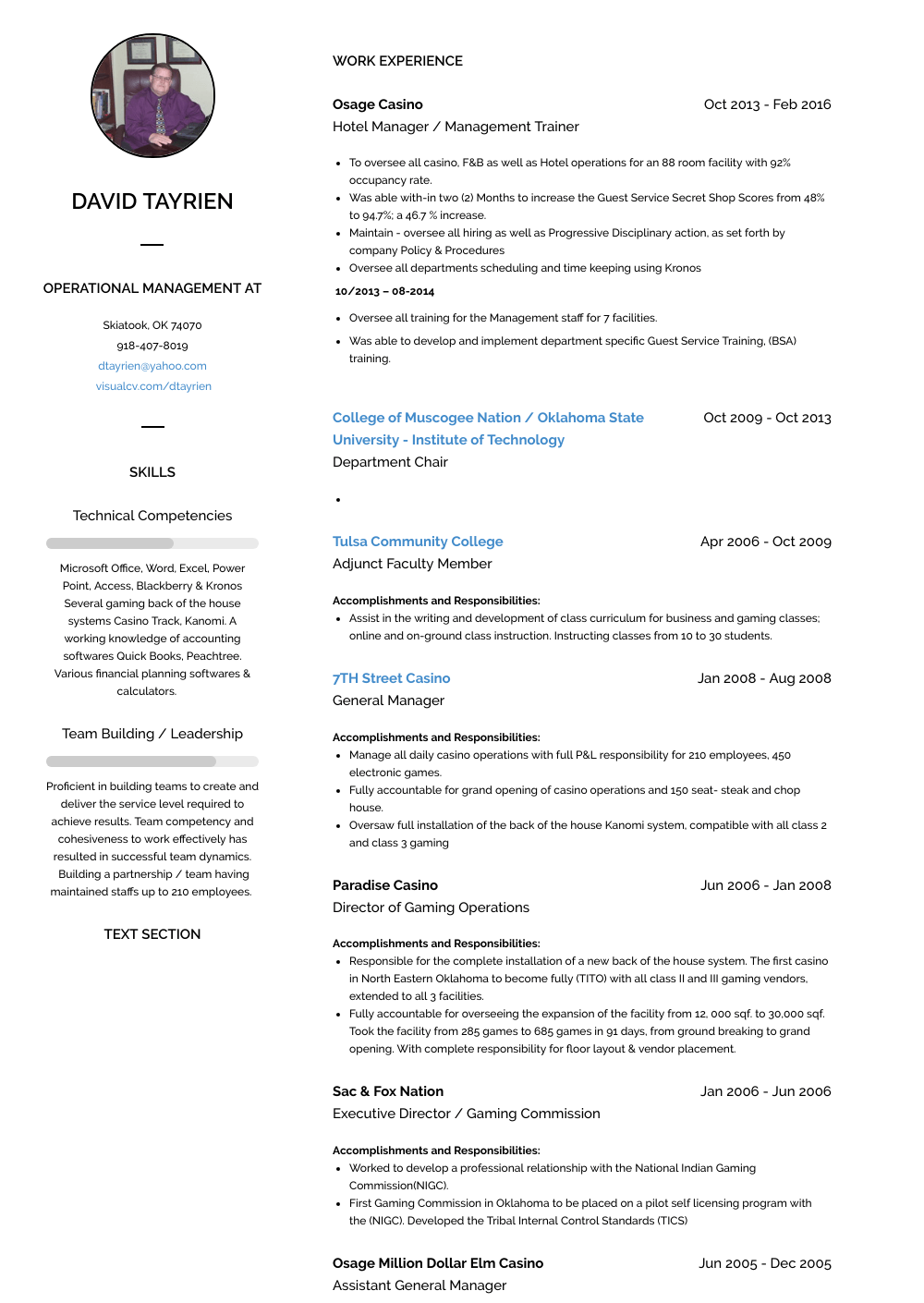 Assistant General Manager Resume Samples & Templates