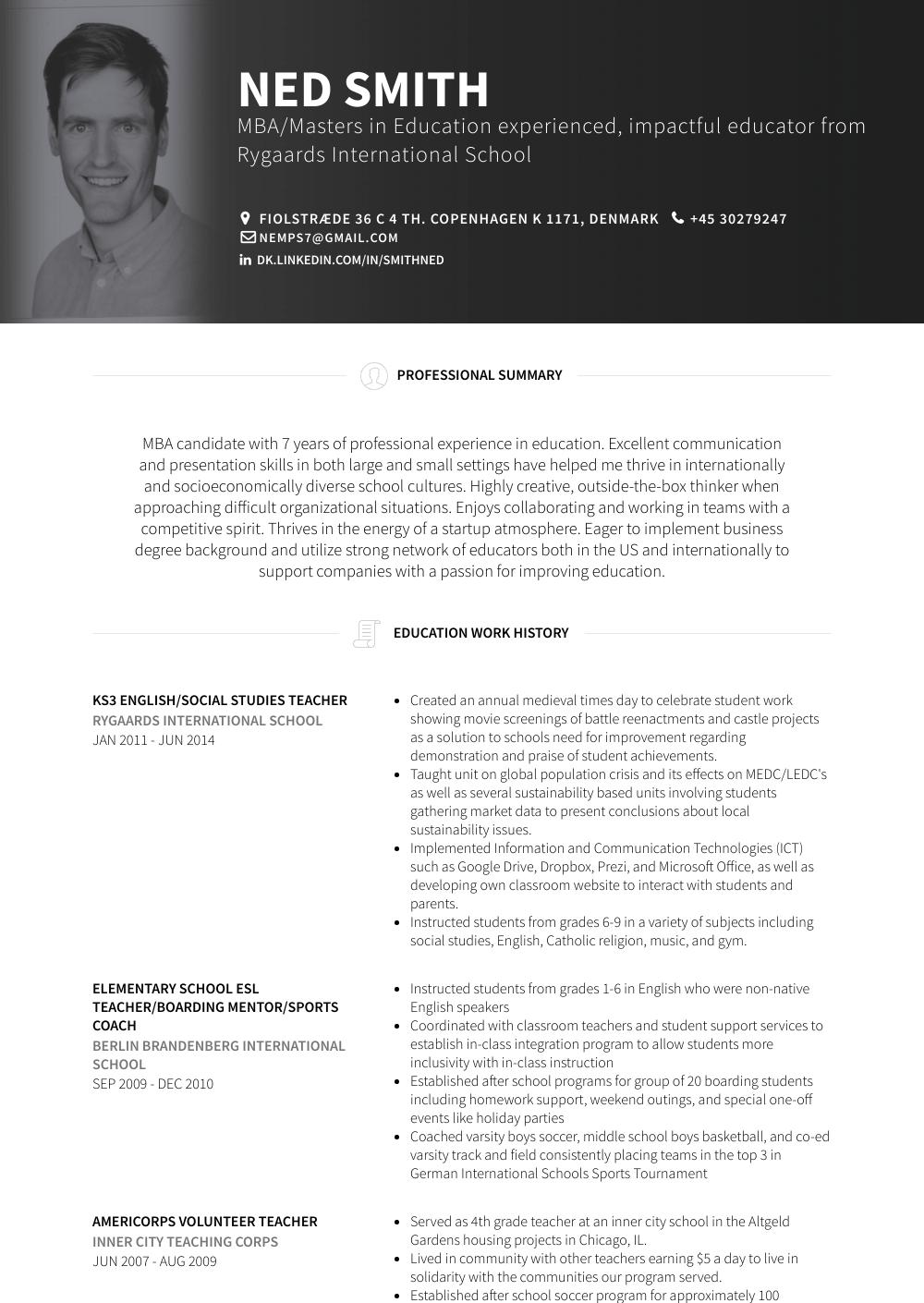 social studies teacher resume cover letter