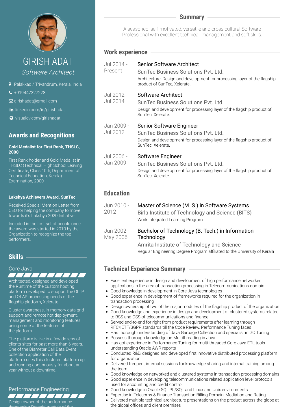 resume write up examples