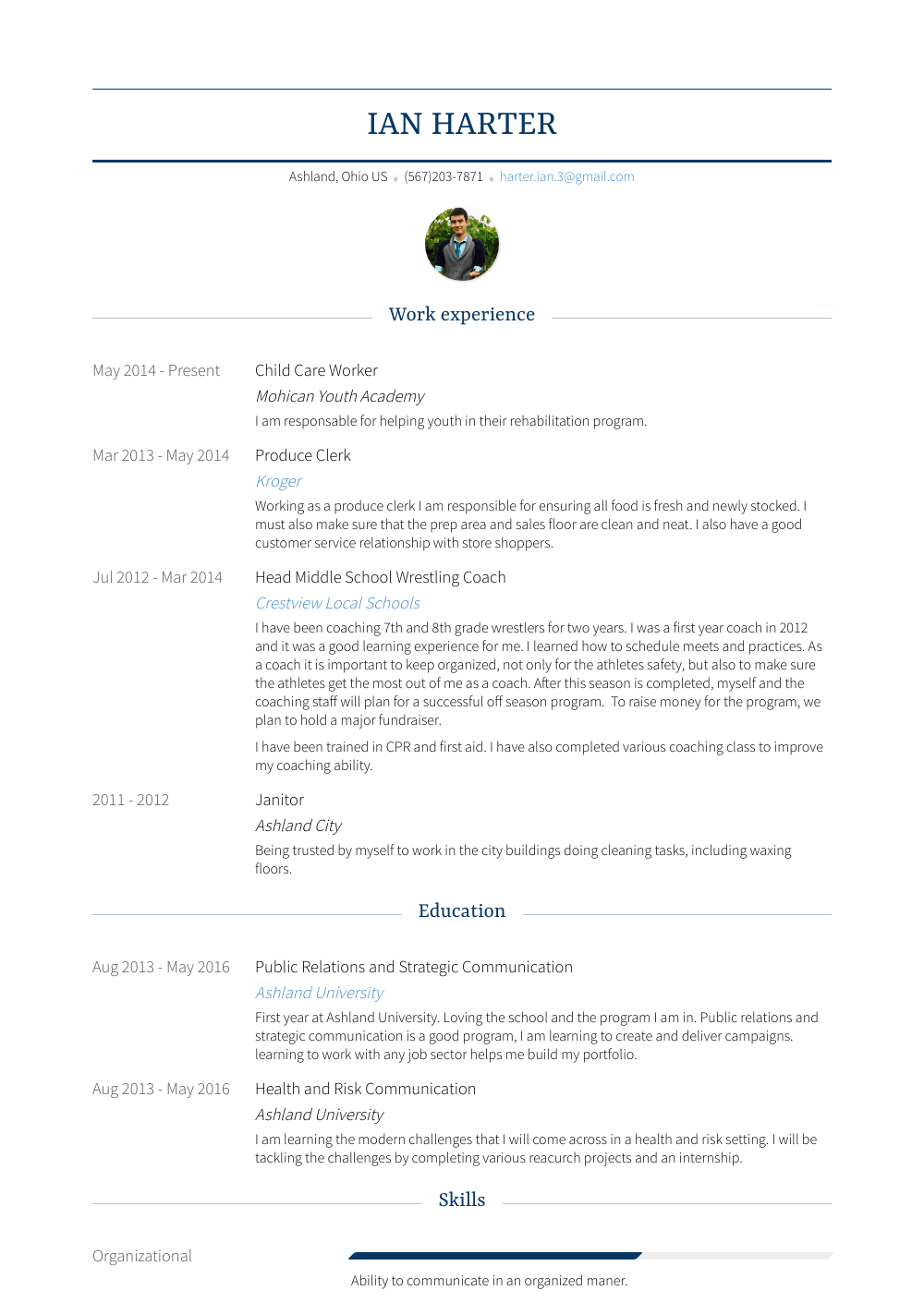 Child Resume Child Care Worker Resume Samples Templates Visualcv