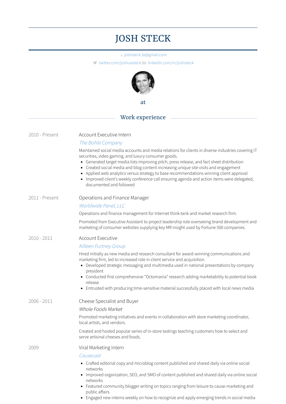 Resume Builder French