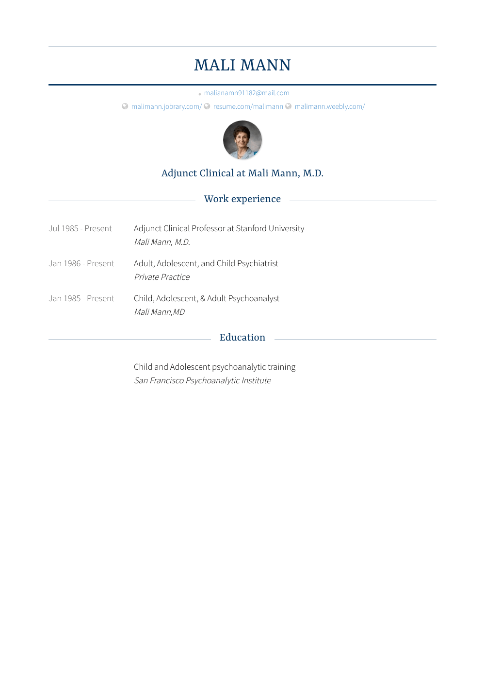 Stanford Resume Template Stanford Resume Samples Templates Visualcv