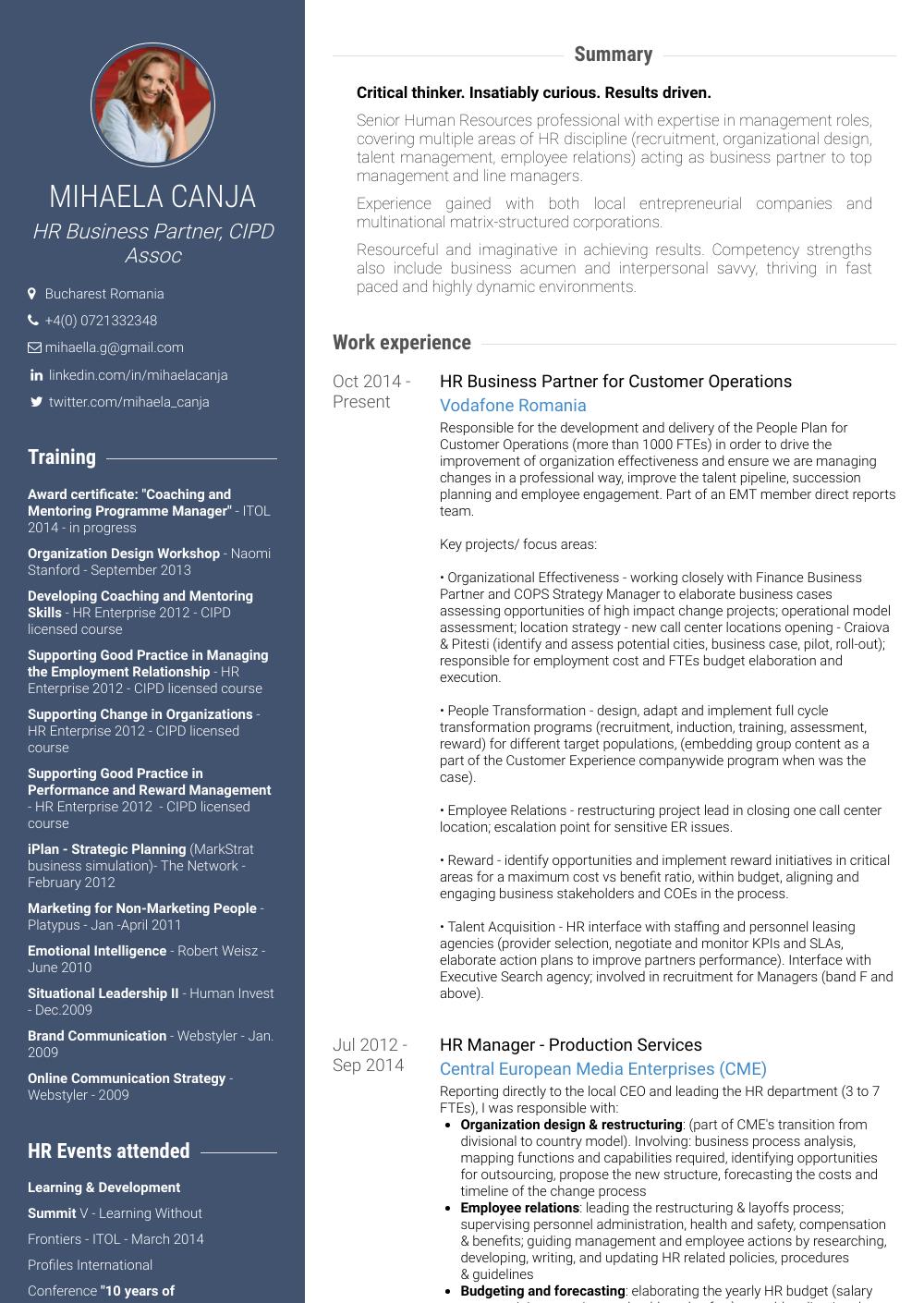 Business Partner Resume Samples & Templates VisualCV