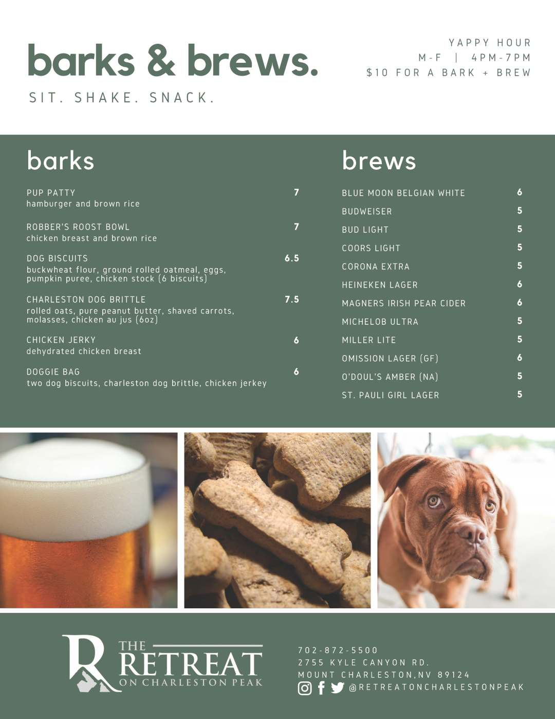Barks & Brews  – The Retreat on Charleston Peak
