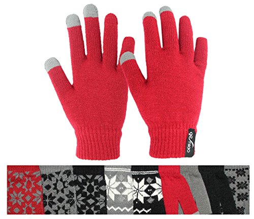 Touch Screen Gloves Red 6 L