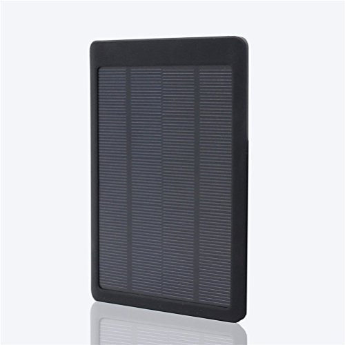 Trekbest Portable Solar Charger Dual USB Port 10000mAh Portable Solar Power Bank for iPhone iPad and Android Phones (Black)