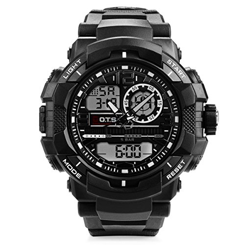 Men's Digital Analog Sports Military Stylish Watches Waterproof Outdoor Electronic LED Backlight Display Alarm Stopwatch –