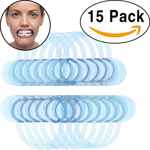 15 Pack Dental Cheek Retractor for Watch Ya Mouth/Speak Out Game C-SHAPE Adult Teeth Whitening Intraoral Cheek Lip Retractors Mouth Opener