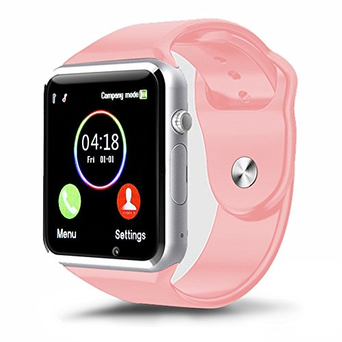 Padgene New GSM Bluetooth Smart Watch with Camera for Samsung S5 / Note 2 / 3 / 4 Nexus 6 Htc Sony and Other Android Smartphones Pink