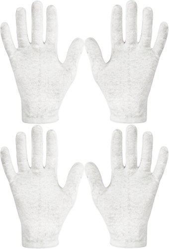 Eurow Cotton Cosmetic Moisturizing Gloves White – 2 Pack