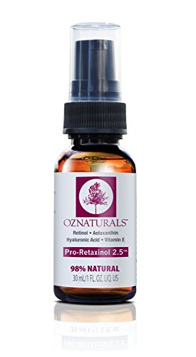 OZNaturals Anti Aging Retinol Serum -The Most Effective Anti Wrinkle Serum Contains Professional Strength Retinol+ Astaxanthin+ Vitamin E – Get The Dramatic Youthful Results You've Been Looking For