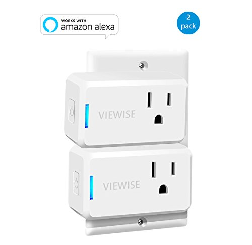VIEWISE Smart Plug Mini Wi-Fi Switch Outlet Socket No Hub Required Compatible with Alexa Control your Devices from Anywhere Mini Size