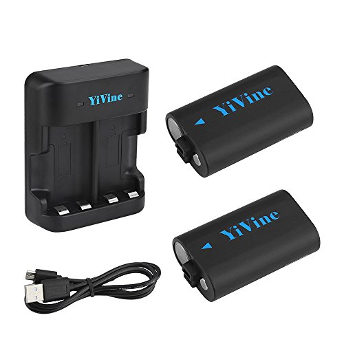 YiVine 2500mAH NI-MH Battery Pack for Xbox One / Xbox One X / Xbox One S/ Xbox one Elite Wireless Controller with Smart Dual Charger