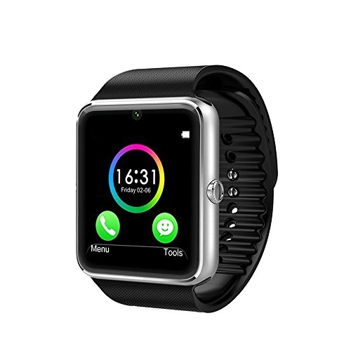 Wingtech Smart Watch Phone 1.54 Inch Phone Syc Fully Support Android 4.3 above and iPhone5s /6/6s/7/7s/8 (Partial Functions for iPhone)