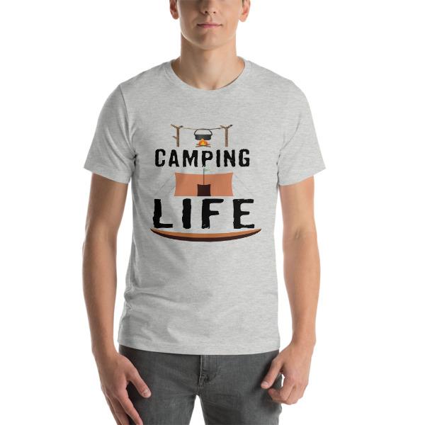 mockup 81824919 - Camping T-Shirts - Camping Life Short-Sleeve Unisex T-Shirt