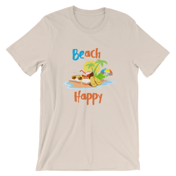 Beach Happy T-Shirt - Beach Short-Sleeve Unisex Tee