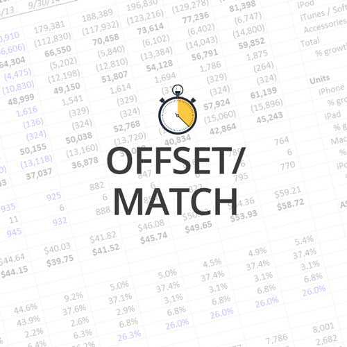 Quick Lesson: OFFSET MATCH and Data Validation, Part 2