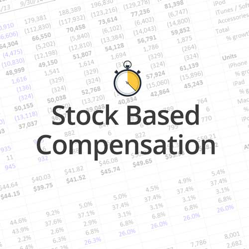 Stock based compensation treatment in the DCF is almost