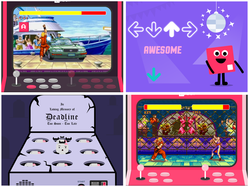 IMAGE: Collage of games Michal has designed