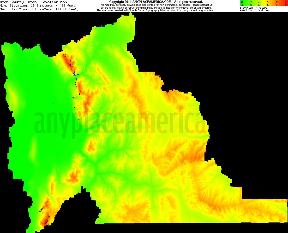 Free Utah County Utah Topo Maps Amp Elevations