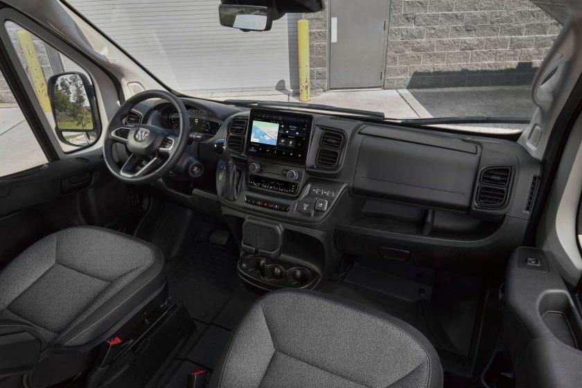Interior de la Ram ProMaster 3500 2022