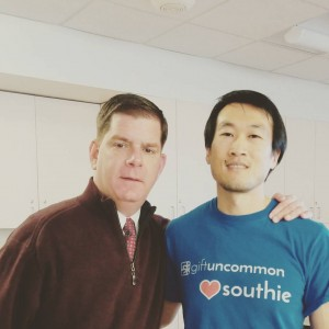 Mayor Marty Walsh, a staunch supporter of local businesses