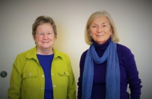 Sister Maryadele Robinson and Judy Swanson of the Labouré Center