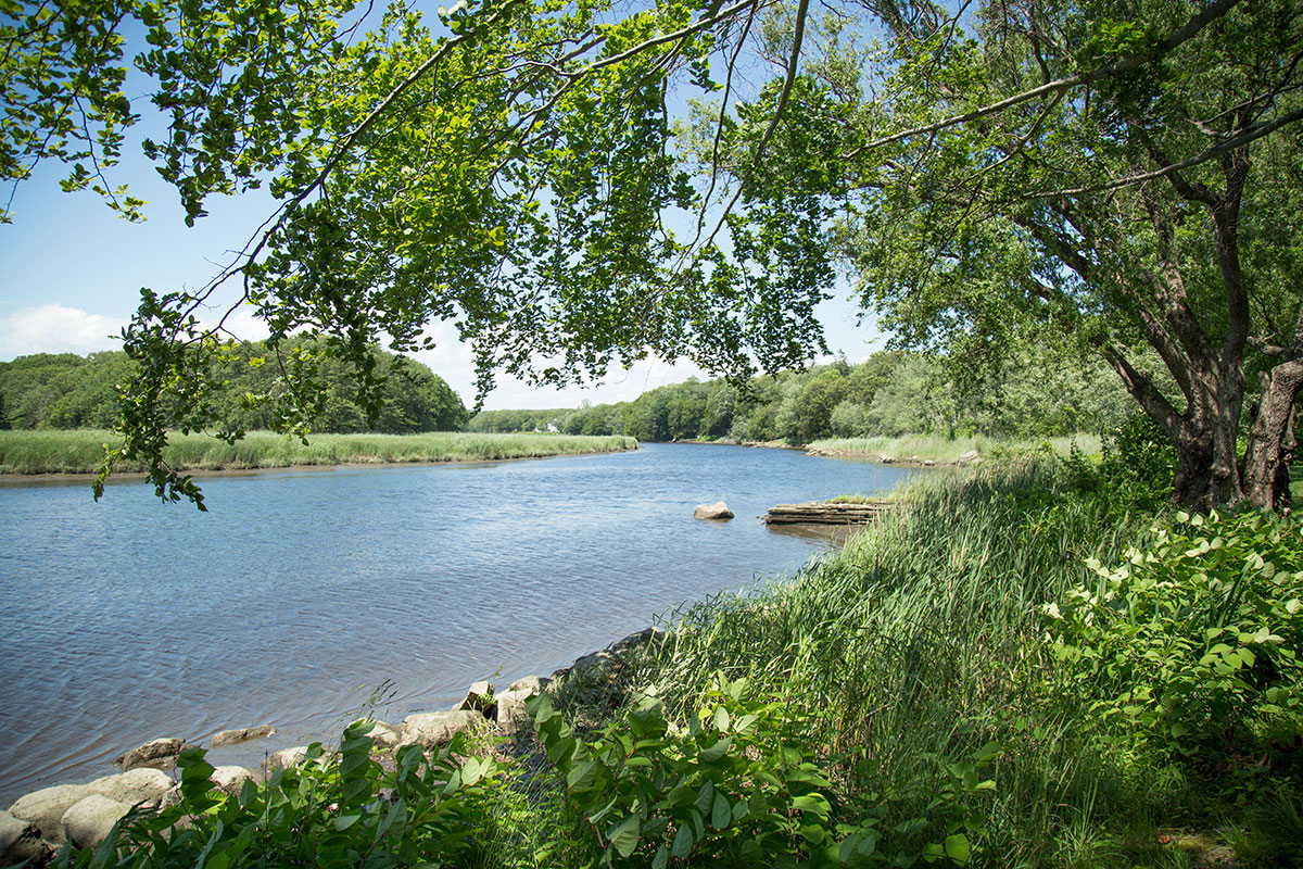 The Lieutenant River, as seen from the grounds of the Florence Griswold Museum in Old Lyme, Connecticut.