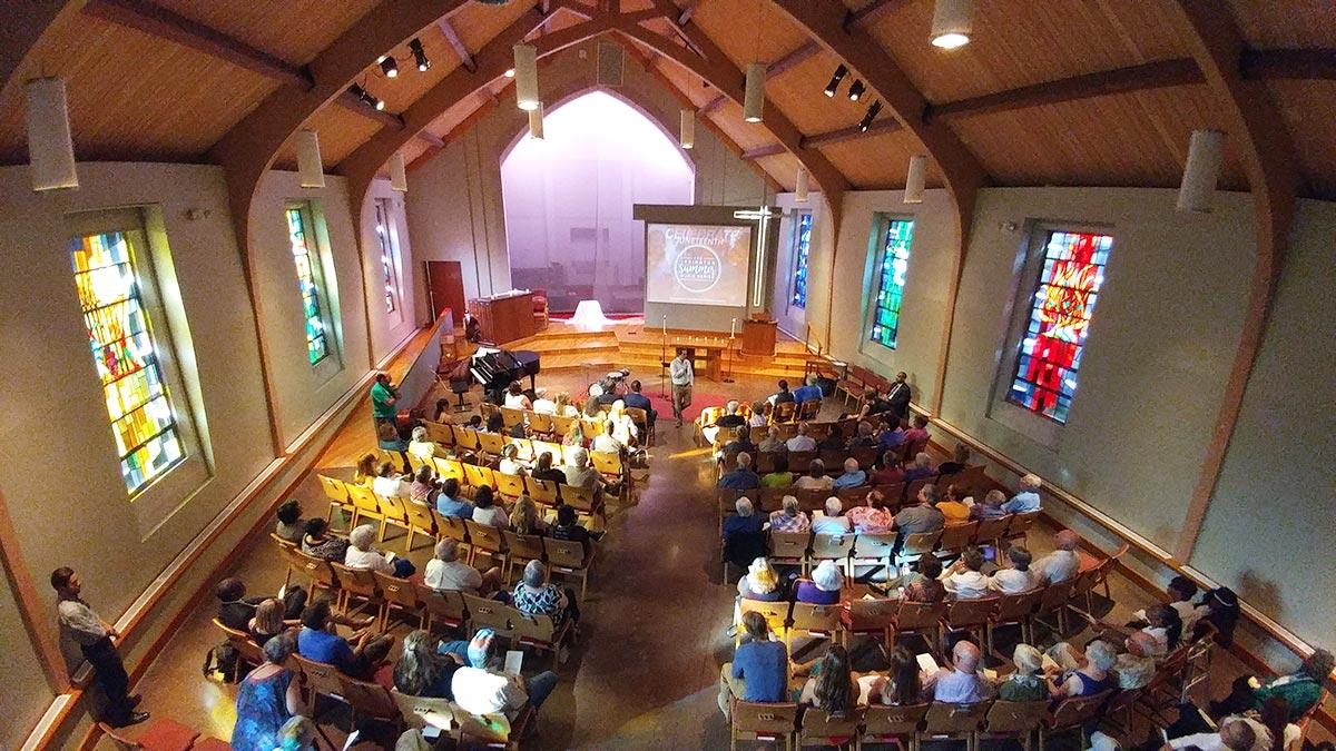 solar panels church religion Indiana