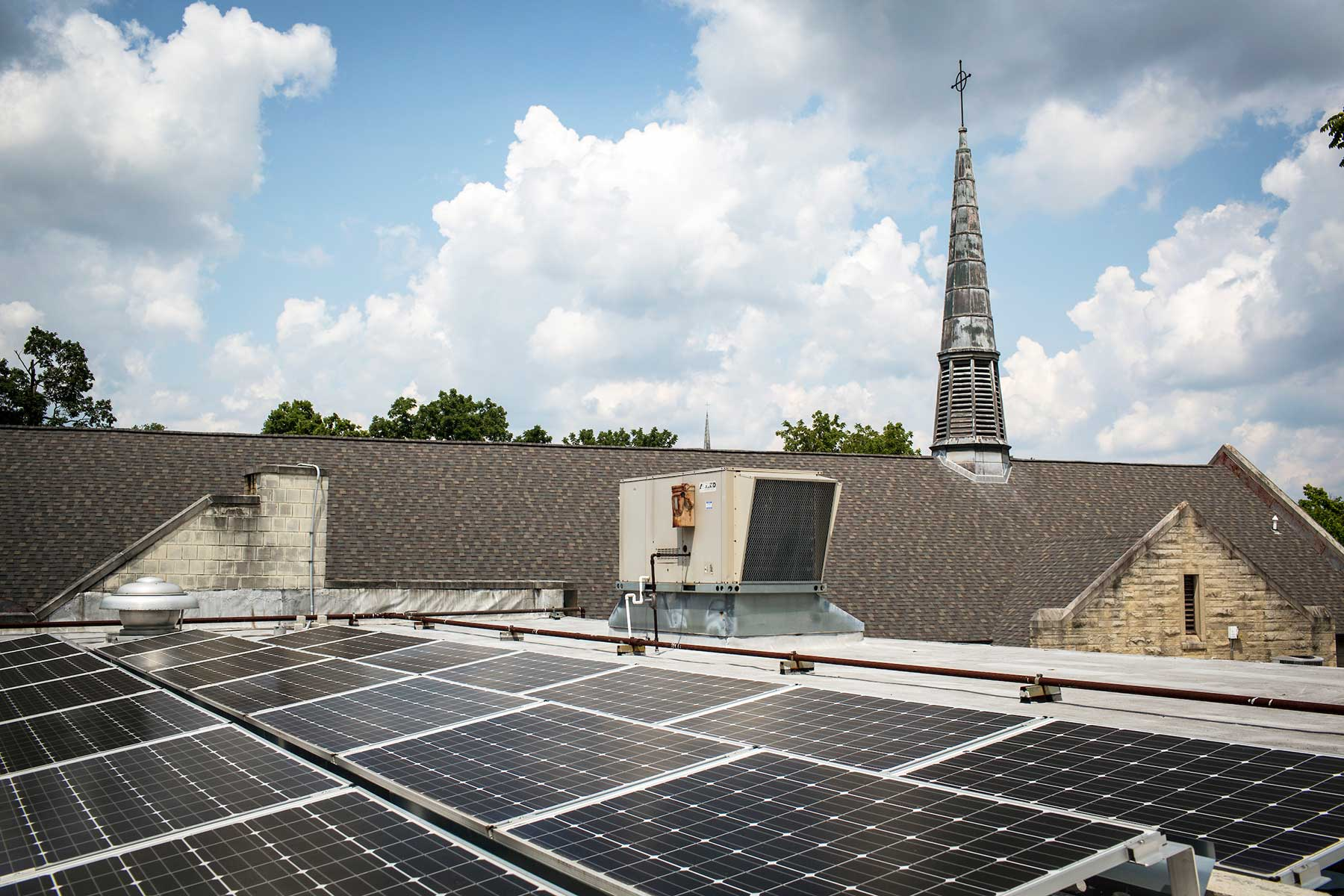 Solar panels church Indiana