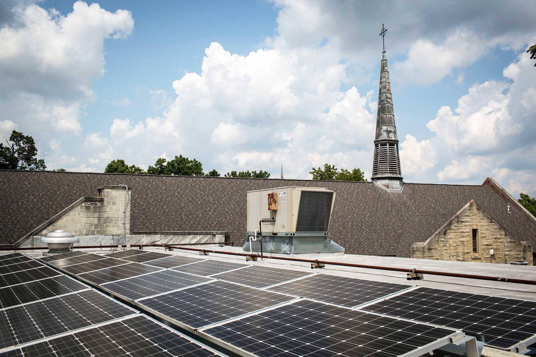 Solar panels church Indiana