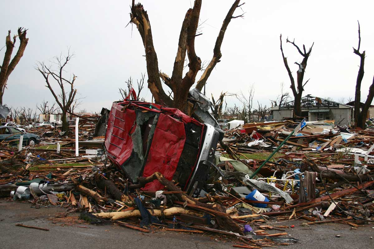 Damage is seen in Greensburg, Kansas, in the wake of the tornado (Jeff Hutton)