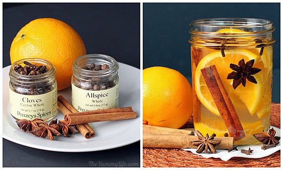 Natural Room Scents Oranges Cinnamon Sticks Whole Cloves Allspice Anise DIY Home Scents