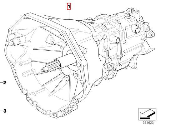 D BMW 23001434485 S5D 320Z Auto to manual Swap kit e36