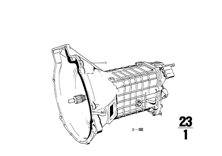 V BMW Used OEM 23001202212 MANUAL TRANSMISSION 4spd GETRAG