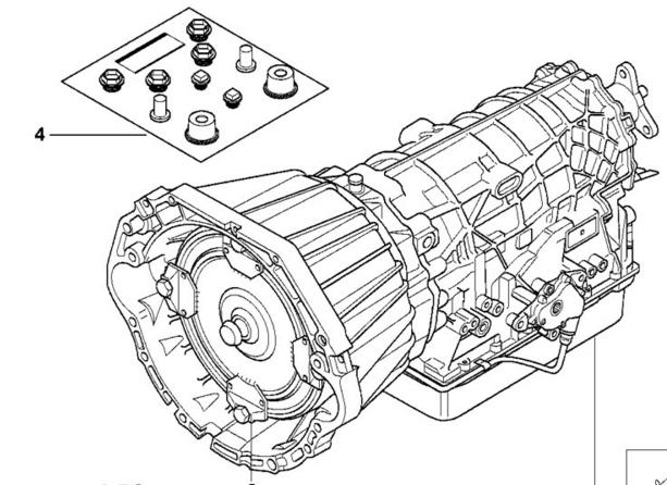 BMW Oem 24001423193 Utilisé de Transmission Automatique
